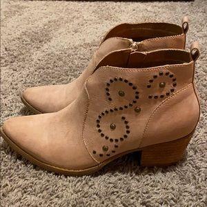 Miim - Pink heeled Cowgirl Booties size 8